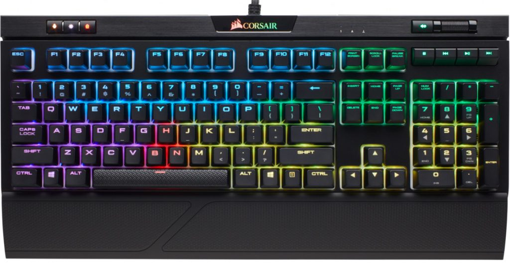 Игровая клавиатура Corsair STRAFE RGB Cherry MX Silent